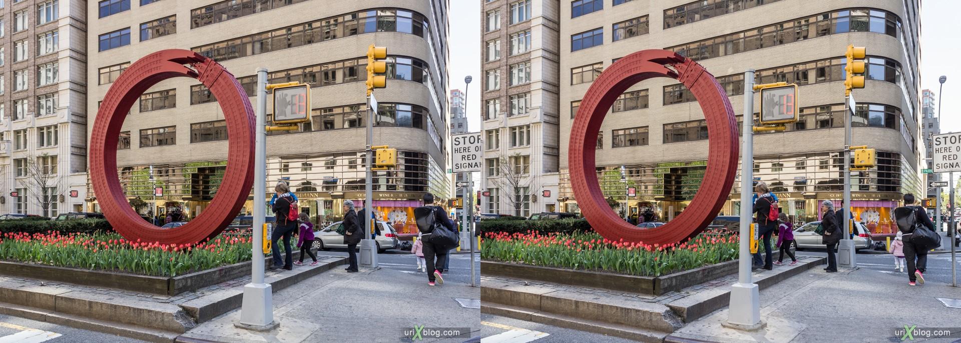 2013, Park Ave, NYC, New York City, USA, 3D, stereo pair, cross-eyed, crossview, cross view stereo pair, stereoscopic