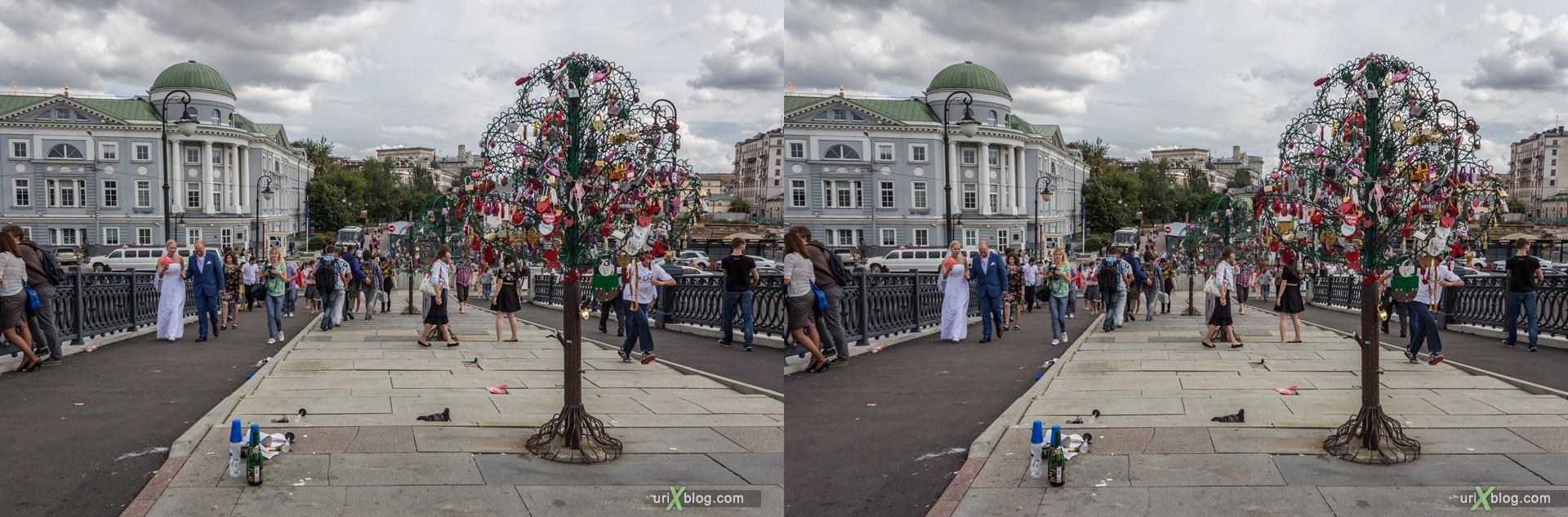 2013, Лужков мост, Москва, Россия, 3D, перекрёстные стереопары, стерео, стереопара, стереопары