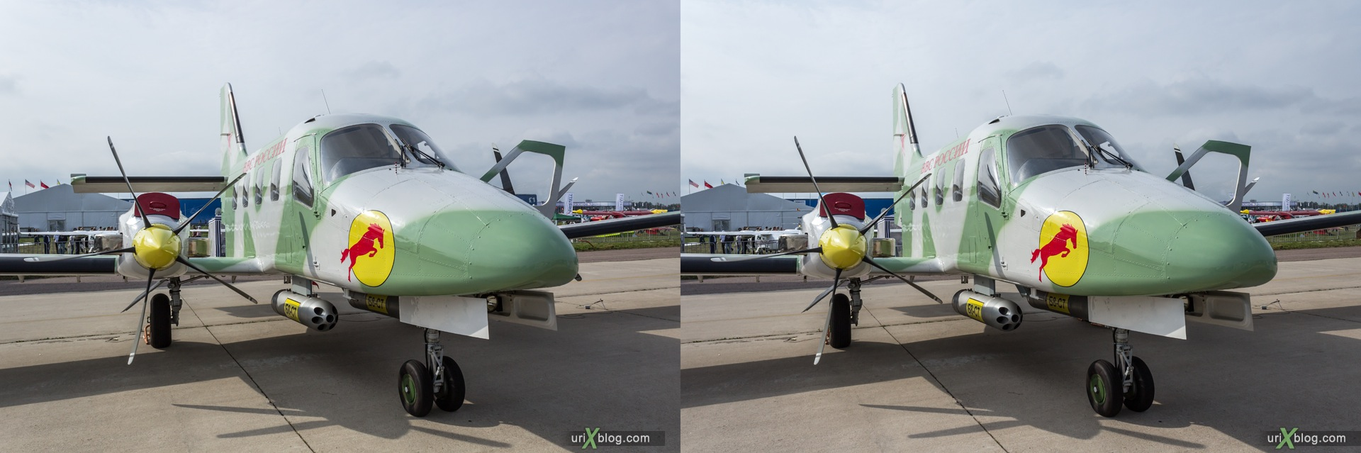 2013, Rysachok, MAKS, International Aviation and Space Salon, Russia, Ramenskoye airfield, airplane, 3D, stereo pair, cross-eyed, crossview, cross view stereo pair, stereoscopic