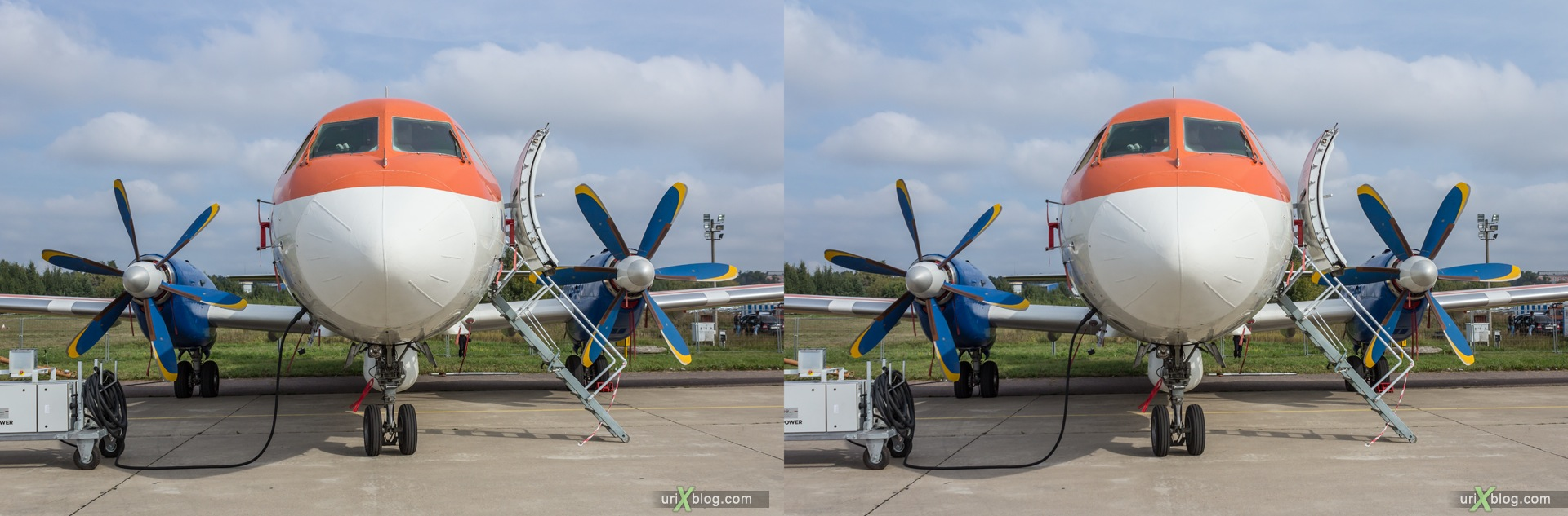2013, Il-114, MAKS, International Aviation and Space Salon, Russia, Ramenskoye airfield, airplane, 3D, stereo pair, cross-eyed, crossview, cross view stereo pair, stereoscopic