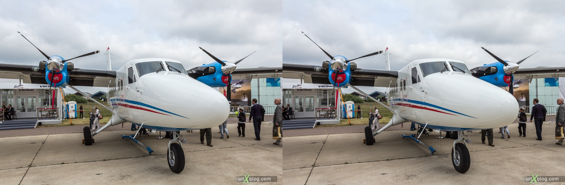 2013, Series 400 Twin Otter, MAKS, International Aviation and Space Salon, Russia, Ramenskoye airfield, airplane, 3D, stereo pair, cross-eyed, crossview, cross view stereo pair, stereoscopic