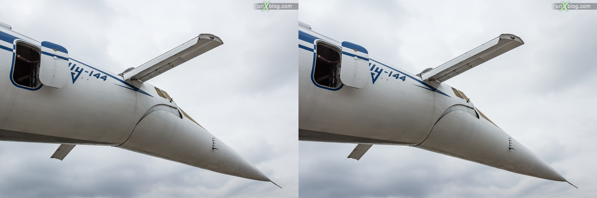 2013, Tu-144, MAKS, International Aviation and Space Salon, Russia, Ramenskoye airfield, airplane, 3D, stereo pair, cross-eyed, crossview, cross view stereo pair, stereoscopic