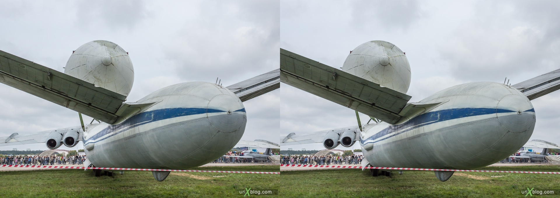2013, VM-T Atlant, MAKS, International Aviation and Space Salon, Russia, Ramenskoye airfield, airplane, 3D, stereo pair, cross-eyed, crossview, cross view stereo pair, stereoscopic