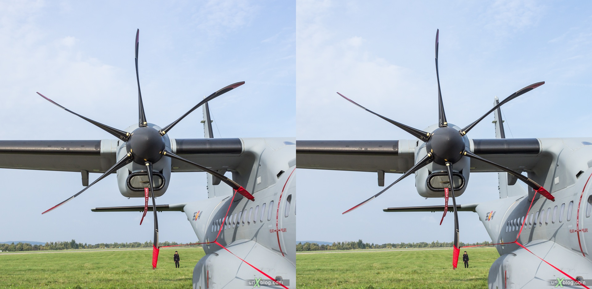 2013, Airbus C-295M Casa, MAKS, International Aviation and Space Salon, Russia, Ramenskoye airfield, airplane, 3D, stereo pair, cross-eyed, crossview, cross view stereo pair, stereoscopic