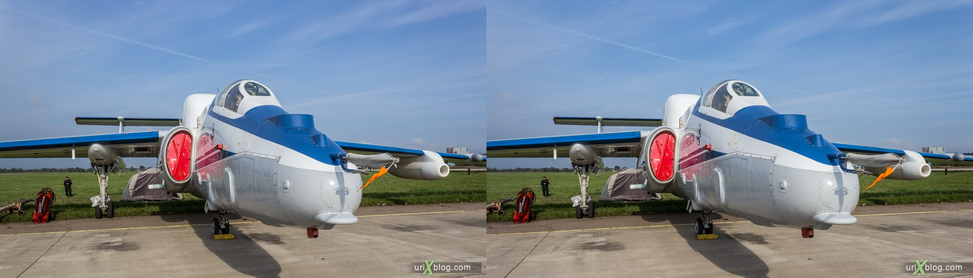 2013, M-55 Geophysica, MAKS, International Aviation and Space Salon, Russia, Ramenskoye airfield, airplane, 3D, stereo pair, cross-eyed, crossview, cross view stereo pair, stereoscopic
