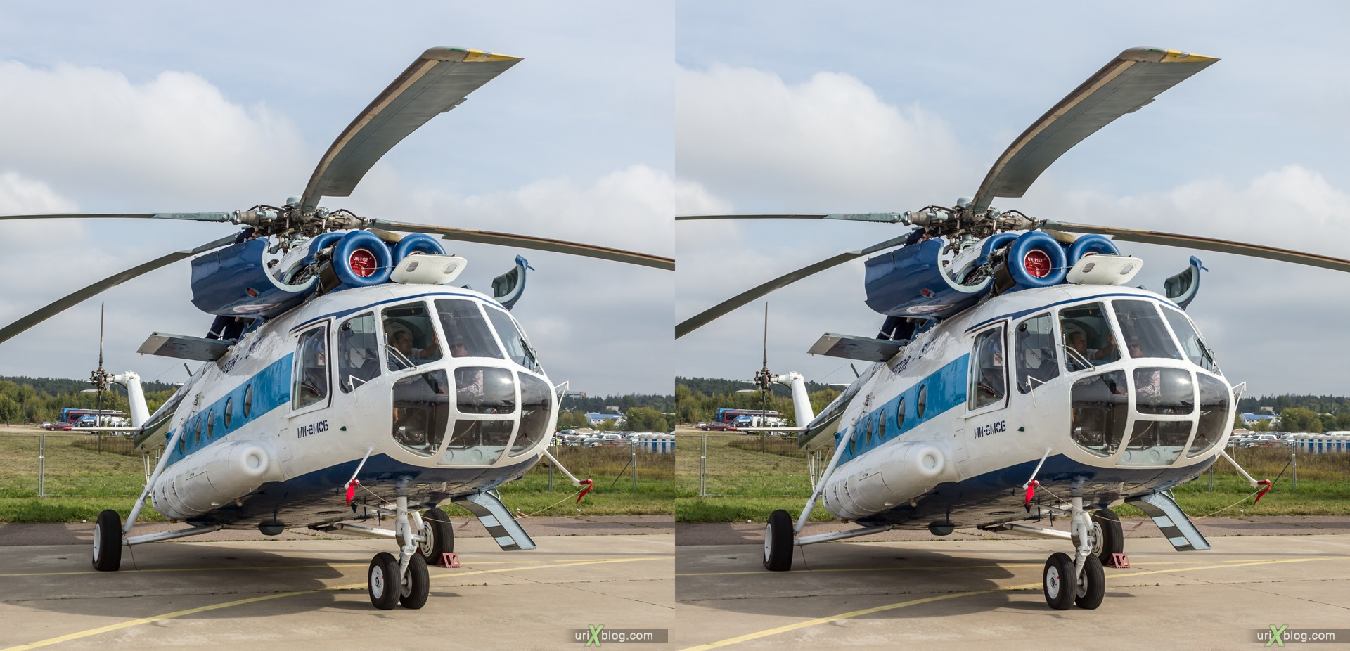 2013, MAKS, International Aviation and Space Salon, Russia, Ramenskoye airfield, Mi-8MSV, helicopter, 3D, stereo pair, cross-eyed, crossview, cross view stereo pair, stereoscopic