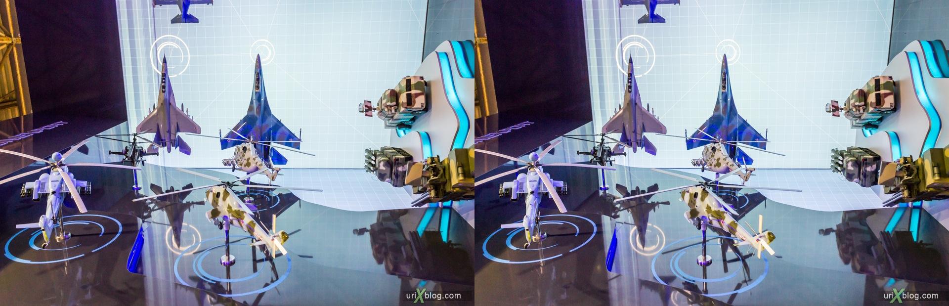 2013, Россия, Раменское, Жуковский, аэродром, павильон, экспозиция, МАКС, Международный Авиационно-космический Салон, 3D, перекрёстная стереопара, стерео, стереопара