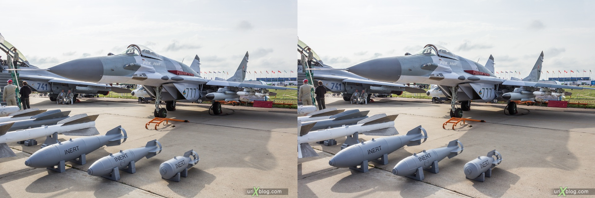 2013, MiG-29SMT, MAKS, International Aviation and Space Salon, Russia, Soviet, USSR, Ramenskoye airfield, airplane, 3D, stereo pair, cross-eyed, crossview, cross view stereo pair, stereoscopic