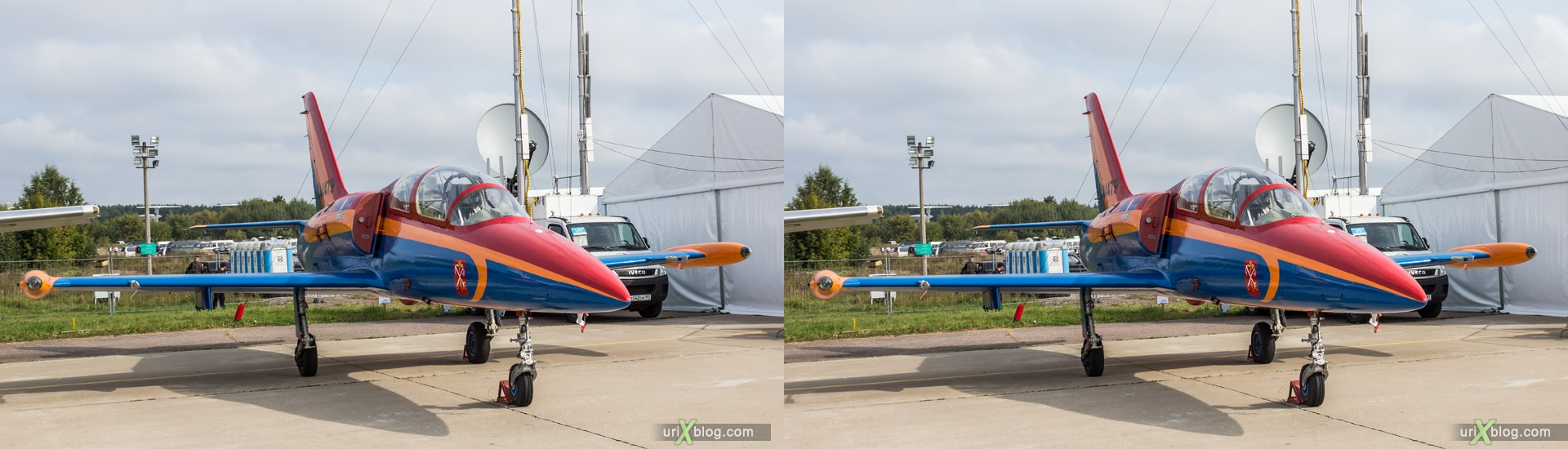 2013, Aero L-39, MAKS, International Aviation and Space Salon, Russia, Soviet, USSR, Ramenskoye airfield, airplane, 3D, stereo pair, cross-eyed, crossview, cross view stereo pair, stereoscopic
