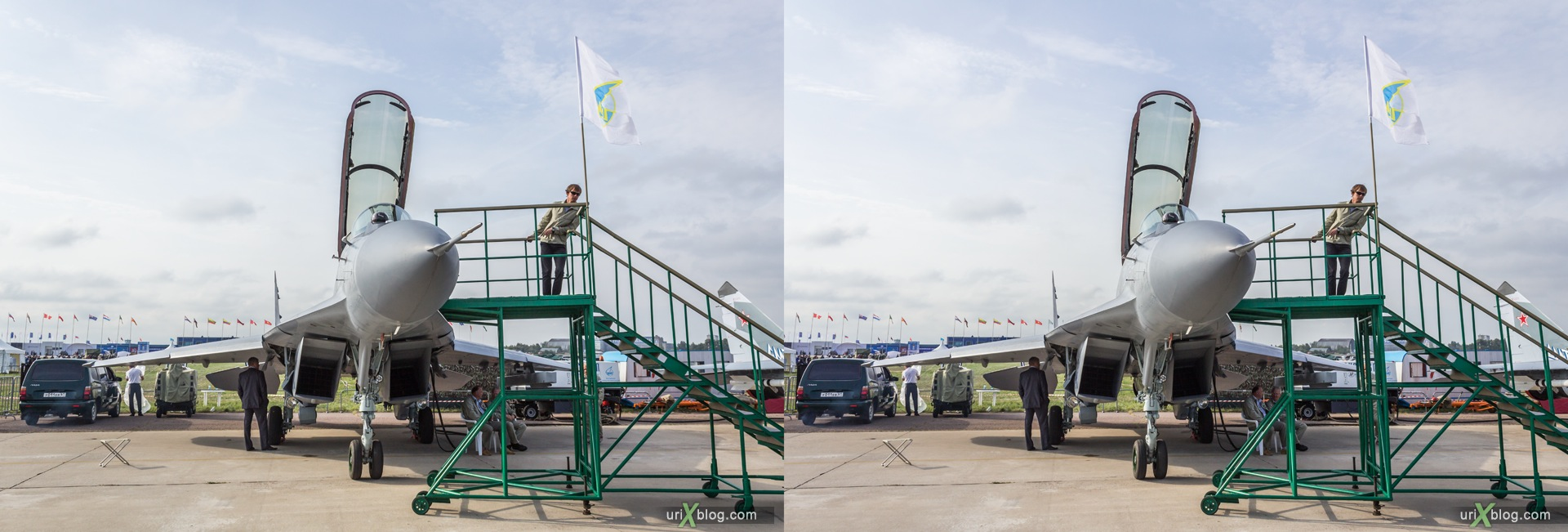 2013, MiG-35, MAKS, International Aviation and Space Salon, Russia, Soviet, USSR, Ramenskoye airfield, airplane, 3D, stereo pair, cross-eyed, crossview, cross view stereo pair, stereoscopic