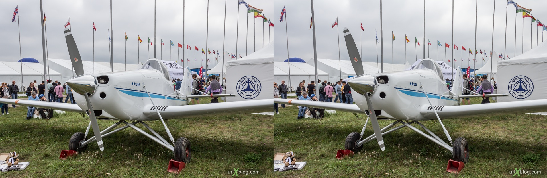 2013, MVEN-500, MAKS, International Aviation and Space Salon, Russia, Ramenskoye airfield, airplane, 3D, stereo pair, cross-eyed, crossview, cross view stereo pair, stereoscopic