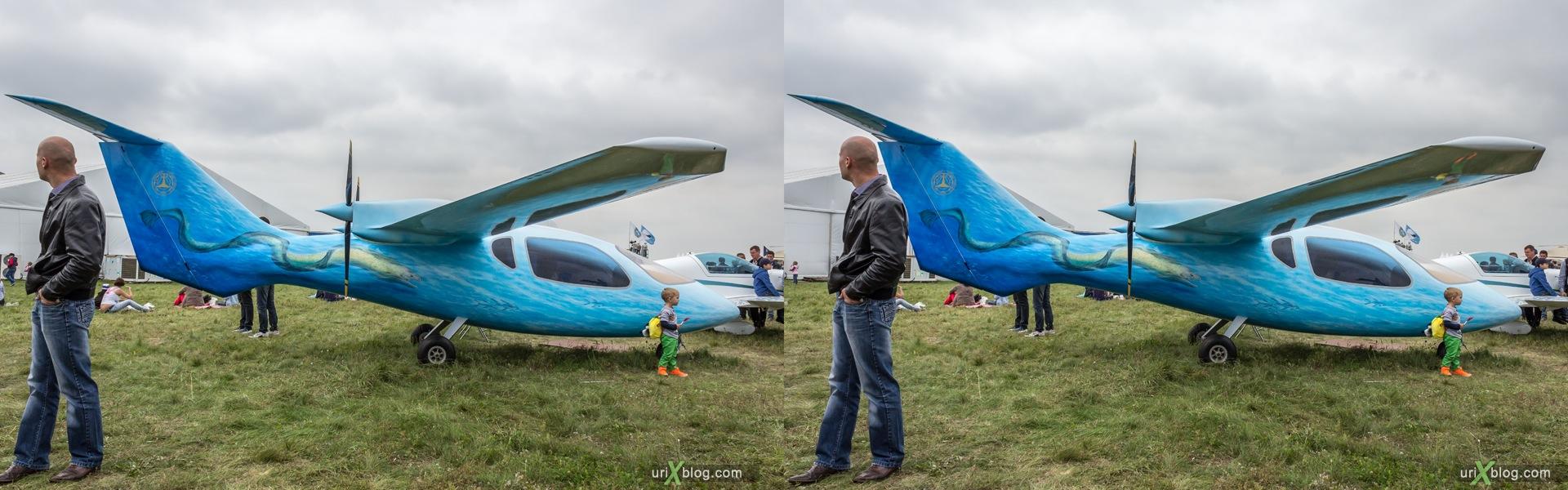 2013, МВЕН-3 Мурена, Россия, Раменское, Жуковский, аэродром, самолёт, экспозиция, МАКС, Международный Авиационно-космический Салон, 3D, перекрёстная стереопара, стерео, стереопара
