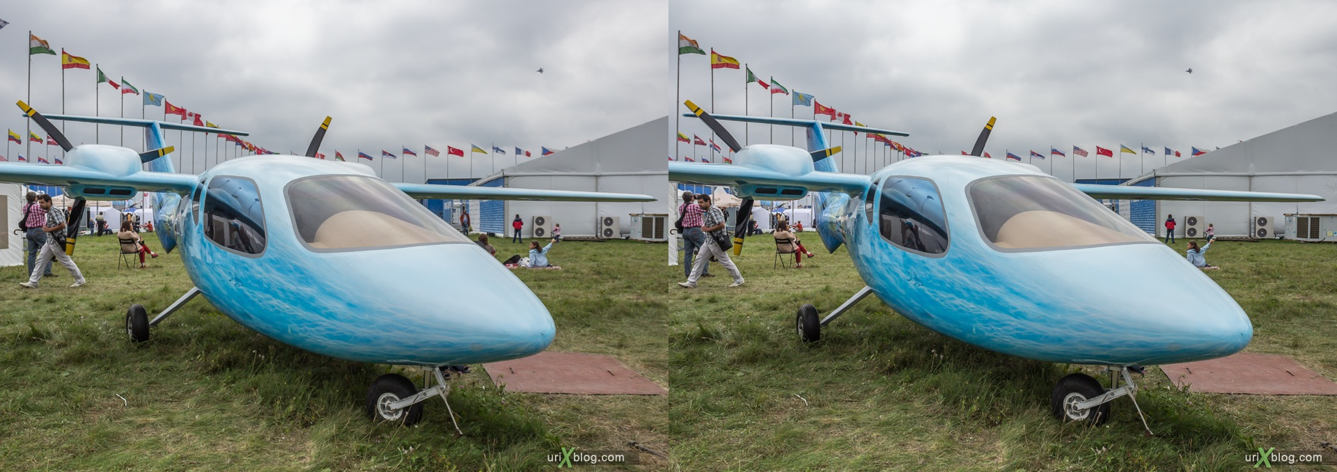 2013, MVEN-3 Murena (Moray), MAKS, International Aviation and Space Salon, Russia, Ramenskoye airfield, airplane, 3D, stereo pair, cross-eyed, crossview, cross view stereo pair, stereoscopic