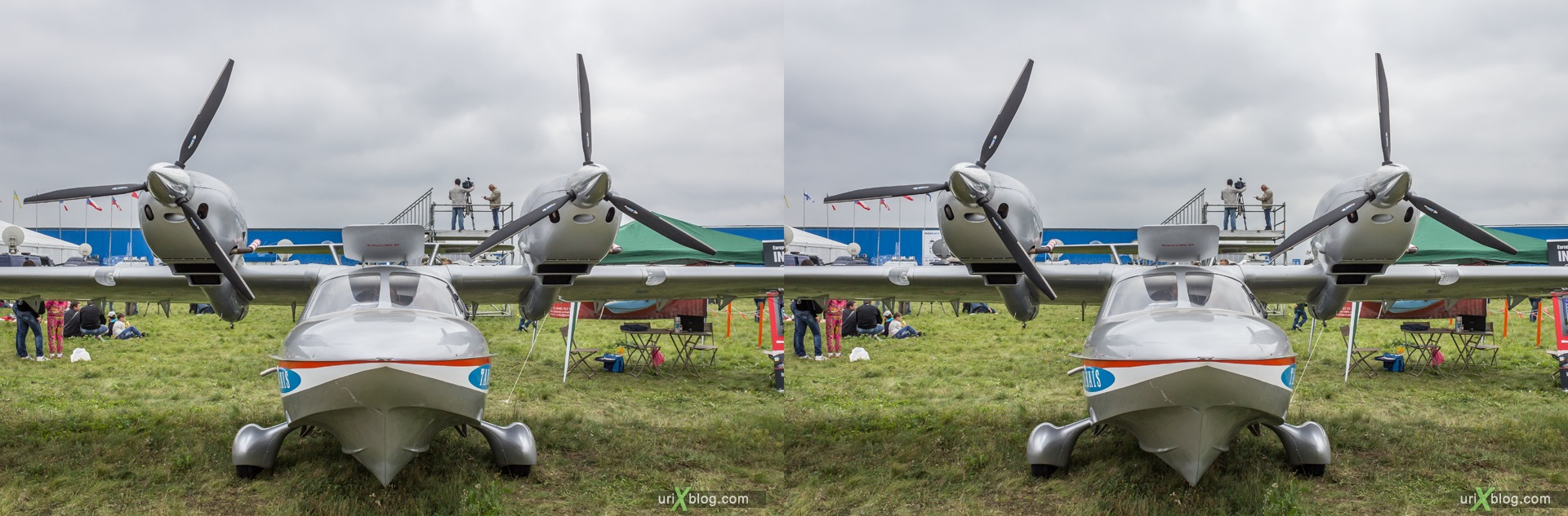 2013, L-44, MAKS, International Aviation and Space Salon, Russia, Ramenskoye airfield, airplane, 3D, stereo pair, cross-eyed, crossview, cross view stereo pair, stereoscopic