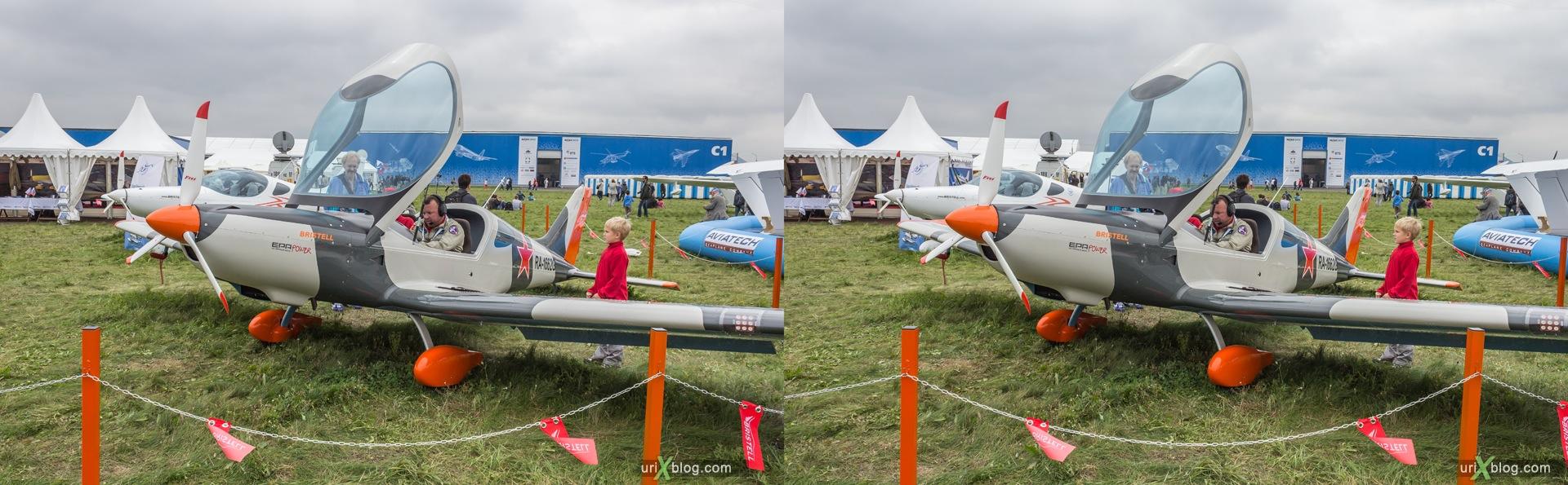 2013, Bristel NG-5, Россия, Раменское, Жуковский, аэродром, самолёт, экспозиция, МАКС, Международный Авиационно-космический Салон, 3D, перекрёстная стереопара, стерео, стереопара