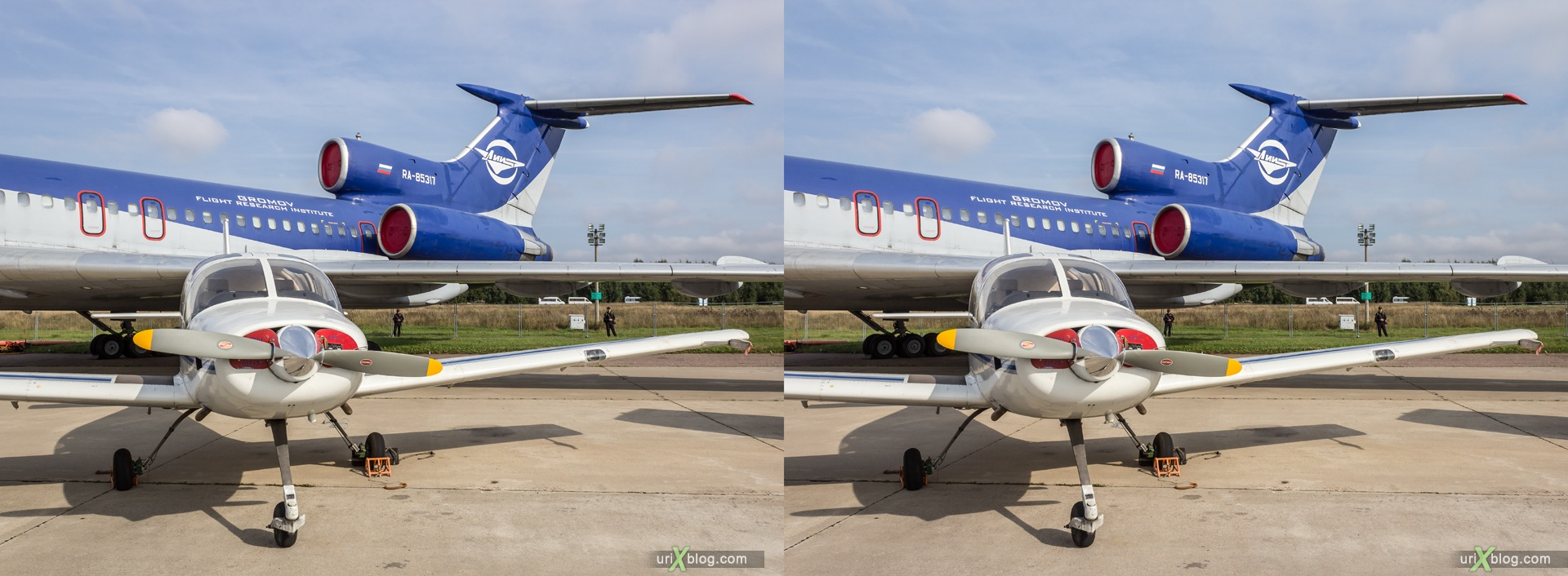 2013, Il-103, MAKS, International Aviation and Space Salon, Russia, Ramenskoye airfield, airplane, 3D, stereo pair, cross-eyed, crossview, cross view stereo pair, stereoscopic
