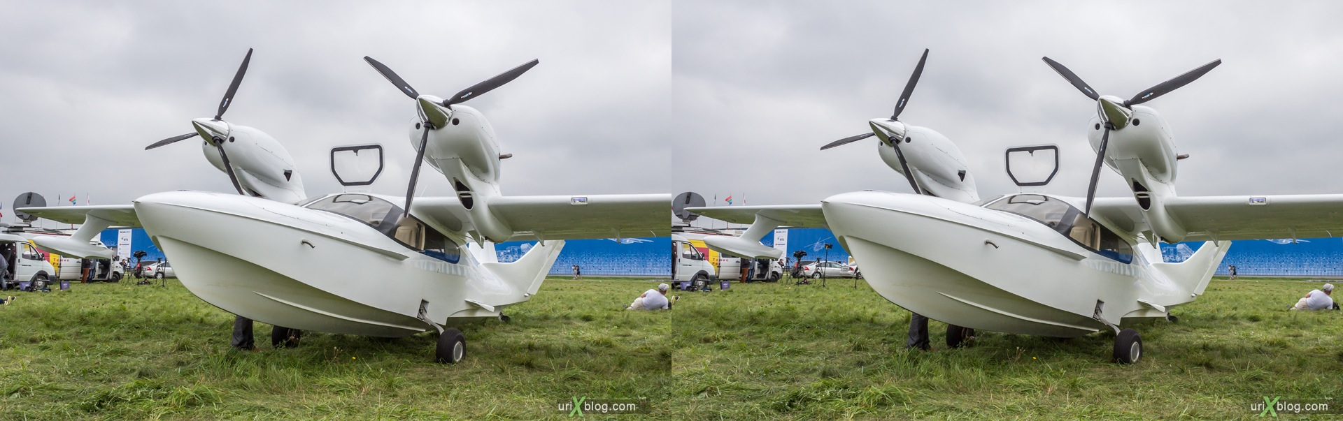 2013, L-42M 006, MAKS, International Aviation and Space Salon, Russia, Ramenskoye airfield, airplane, 3D, stereo pair, cross-eyed, crossview, cross view stereo pair, stereoscopic