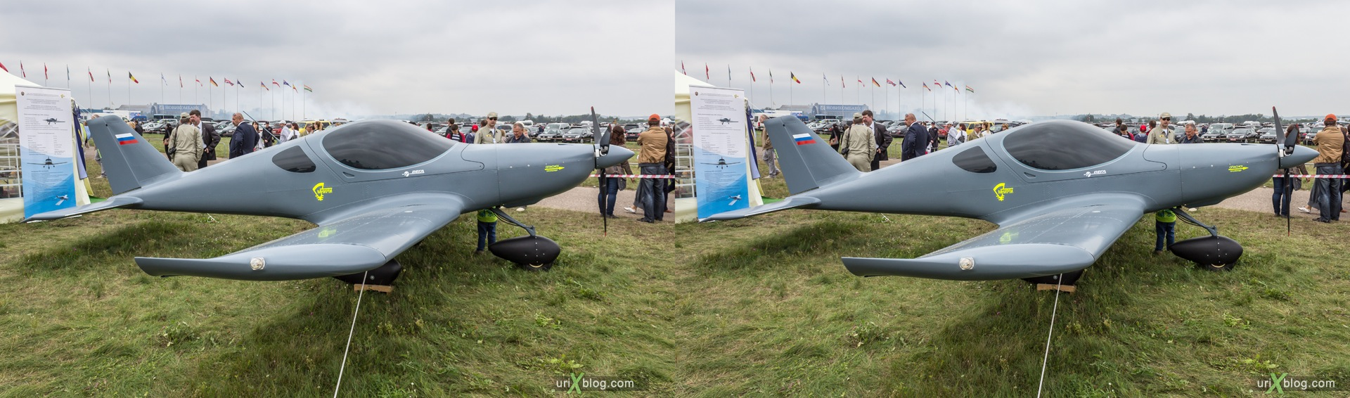 2013, MNIRTI Vega Shmel, MAKS, International Aviation and Space Salon, Russia, Ramenskoye airfield, airplane, 3D, stereo pair, cross-eyed, crossview, cross view stereo pair, stereoscopic