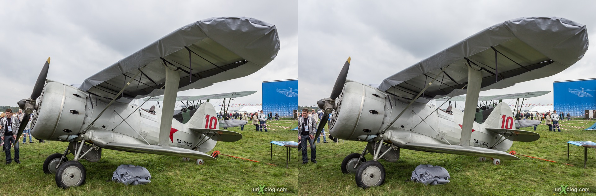 2013, I-15, MAKS, International Aviation and Space Salon, Russia, Ramenskoye airfield, airplane, 3D, stereo pair, cross-eyed, crossview, cross view stereo pair, stereoscopic