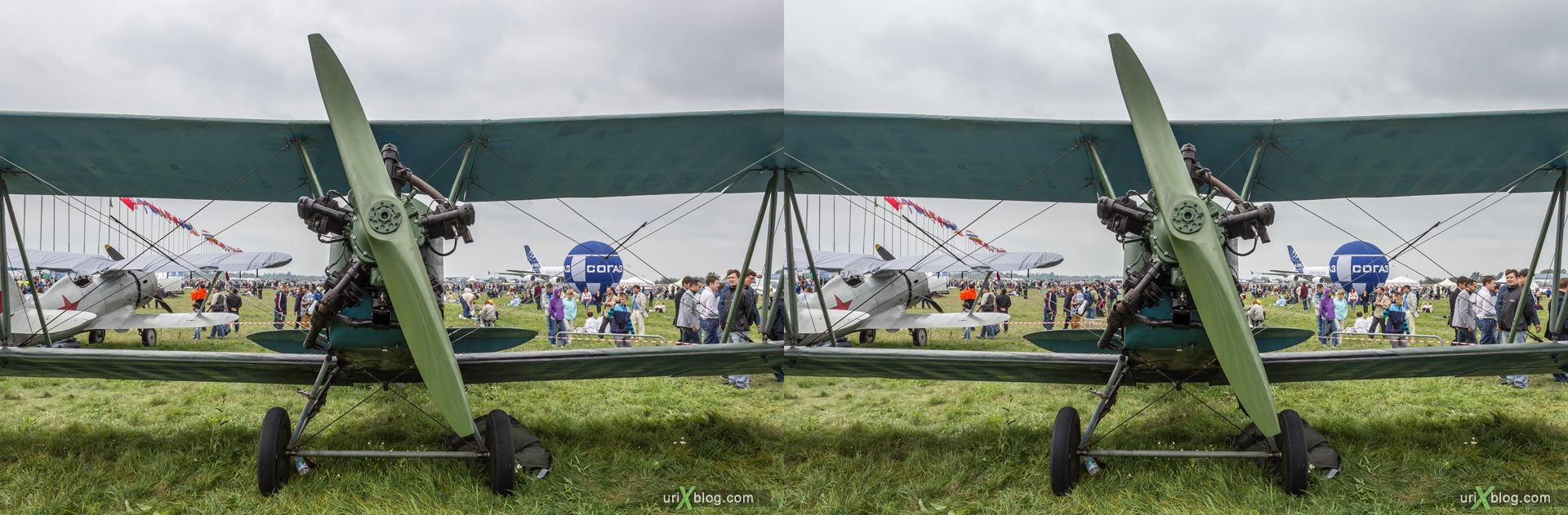2013, По-2, Россия, Раменское, Жуковский, аэродром, самолёт, экспозиция, МАКС, Международный Авиационно-космический Салон, 3D, перекрёстная стереопара, стерео, стереопара