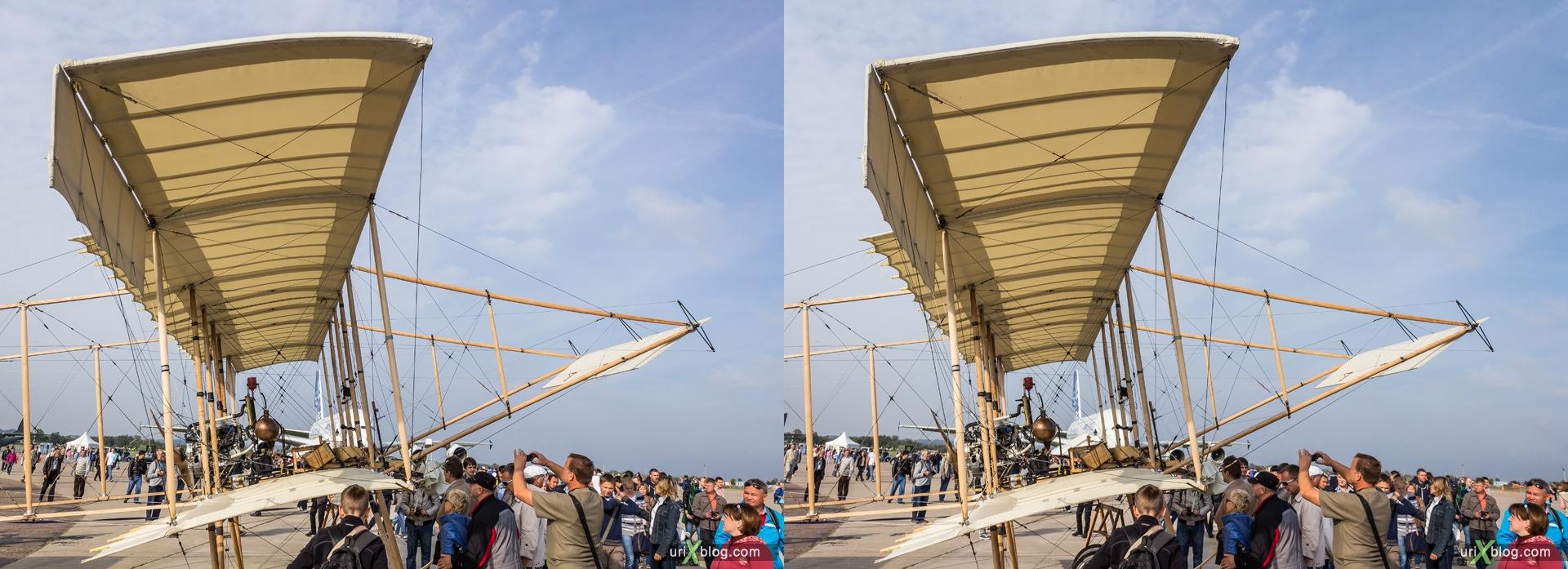 2013, старинный русский самолёт, Россия, Раменское, Жуковский, аэродром, самолёт, экспозиция, МАКС, Международный Авиационно-космический Салон, 3D, перекрёстная стереопара, стерео, стереопара
