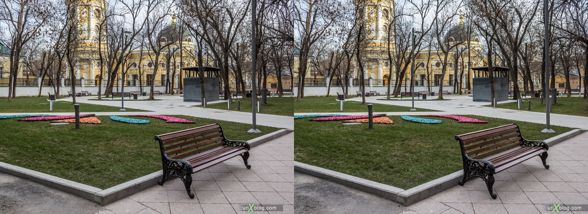 2013, Moscow, Russia, Ordynsky dead end, metro, street, new pedestrian zone, 3D, stereo pair, cross-eyed, crossview, cross view stereo pair, stereoscopic