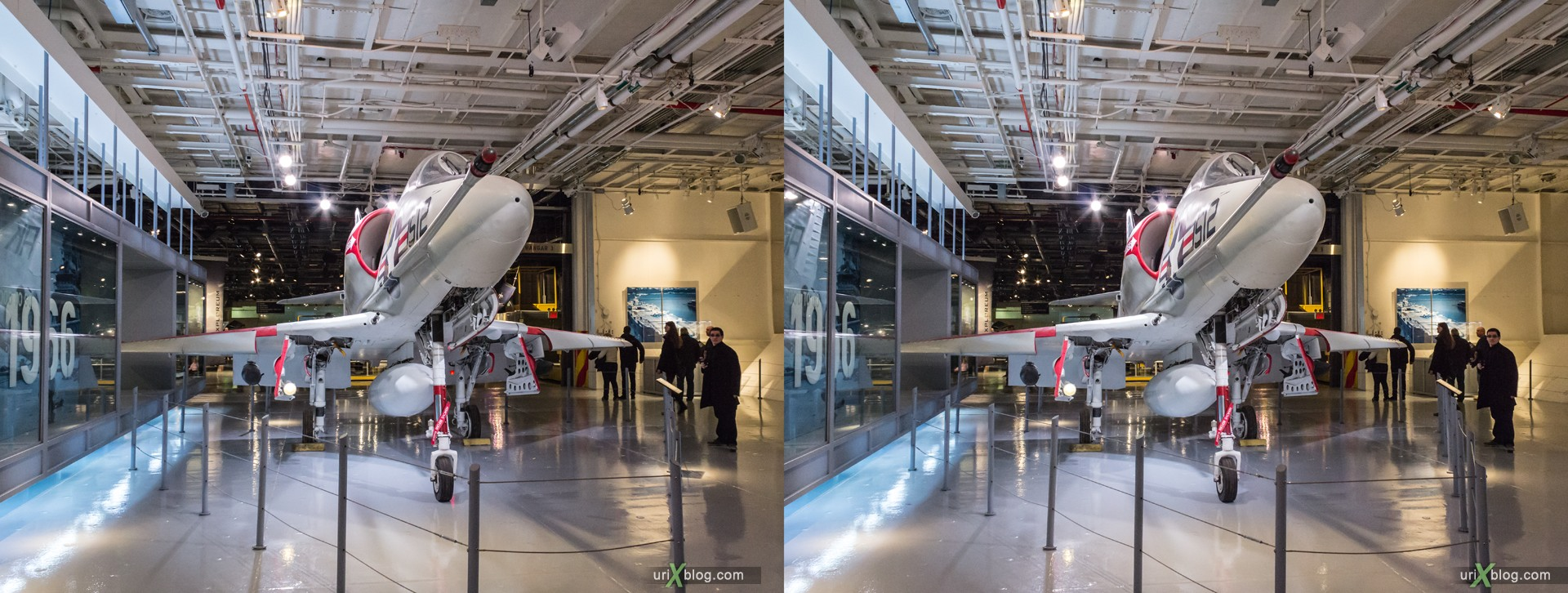 2013, USA, NYC, New York, aircraft carrier Intrepid museum, A-4 Skyhawk, sea, air, space, ship, submarine, aircraft, airplane, helicopter, military, 3D, stereo pair, cross-eyed, crossview, cross view stereo pair, stereoscopic
