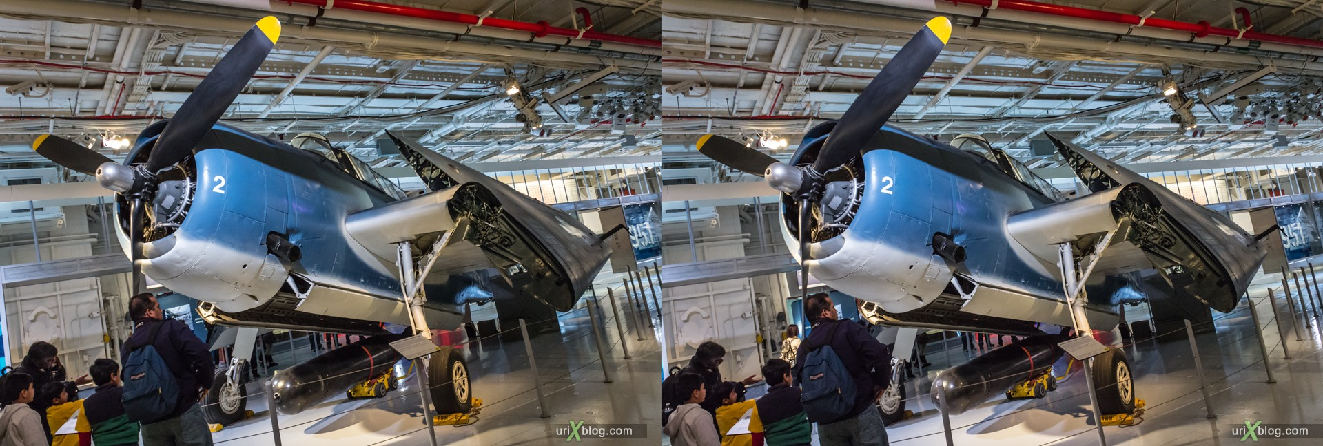 2013, USA, NYC, New York, aircraft carrier Intrepid museum, TBM-3 Avenger, sea, air, space, ship, submarine, aircraft, airplane, helicopter, military, 3D, stereo pair, cross-eyed, crossview, cross view stereo pair, stereoscopic