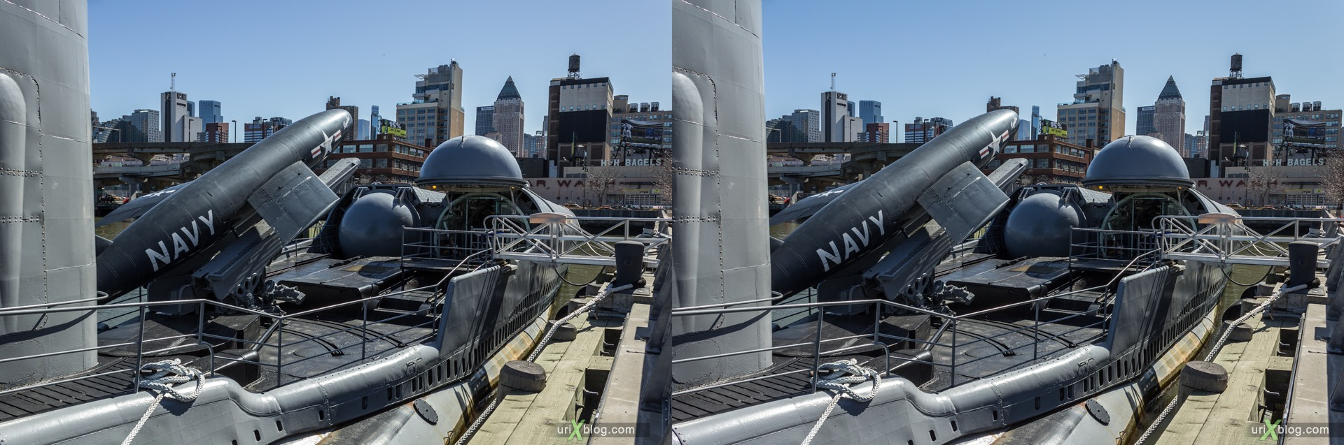 2013, USA, NYC, New York, aircraft carrier Intrepid museum, Growler submarine, sea, air, space, ship, submarine, aircraft, airplane, helicopter, military, 3D, stereo pair, cross-eyed, crossview, cross view stereo pair, stereoscopic