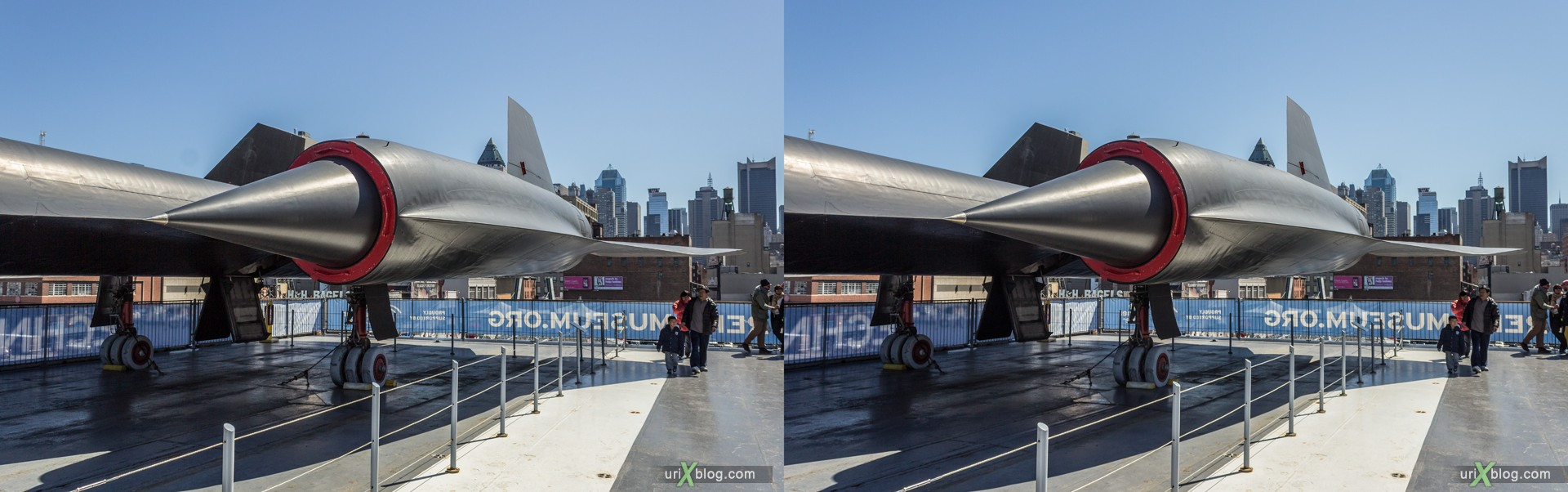 2013, USA, NYC, New York, aircraft carrier Intrepid museum, Lockheed A-12 Blackbird, sea, air, space, ship, submarine, aircraft, airplane, helicopter, military, 3D, stereo pair, cross-eyed, crossview, cross view stereo pair, stereoscopic