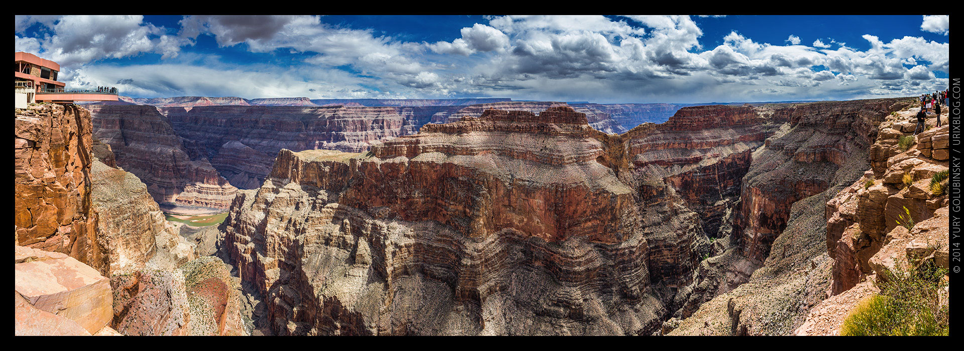 Grand Canyon West, Eagle point view, panorama, Arizona, USA, 2014