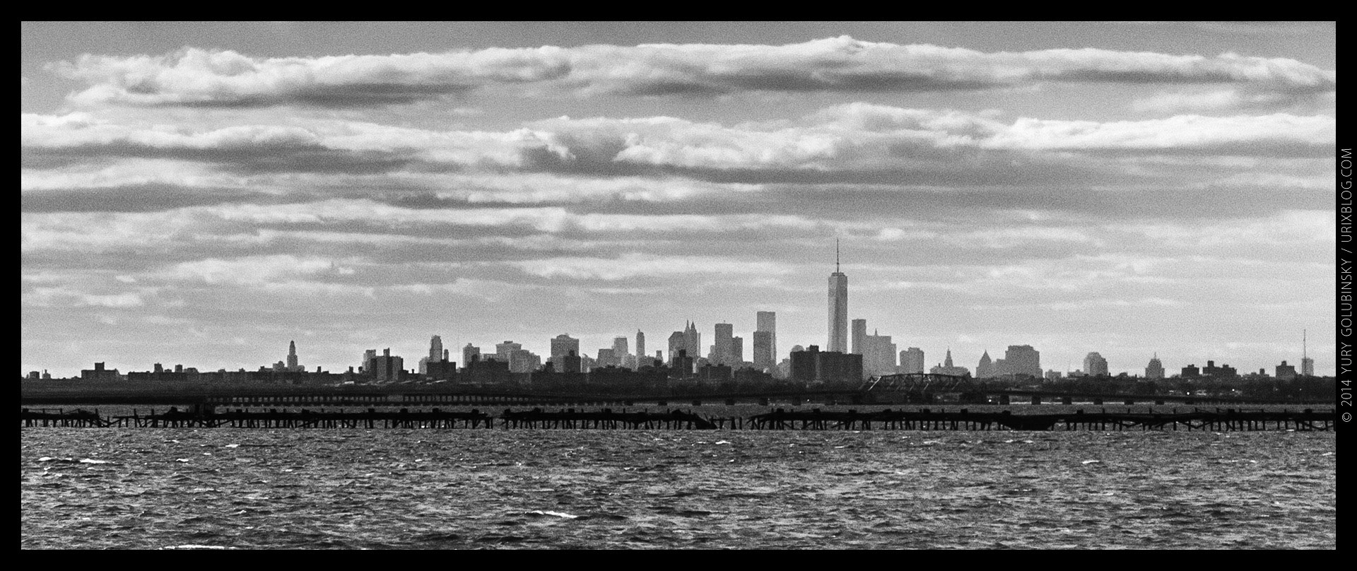 Manhattan, New York, NYC, JFK, USA, airport, 2014, panorama, horizon, city, bw, black and white