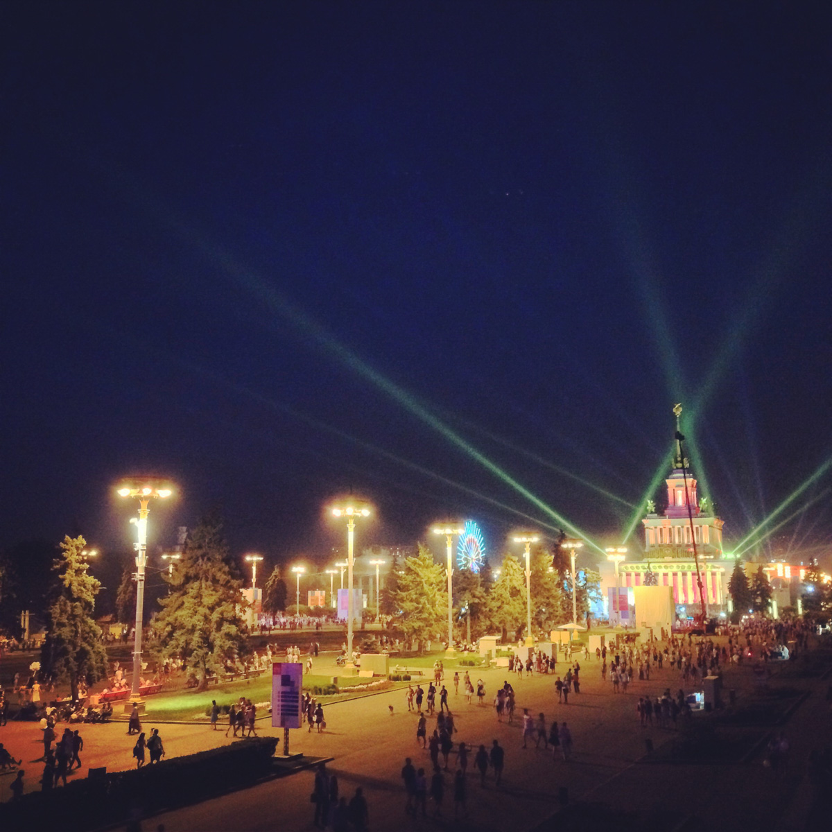 2014, 75th years VDNKh, VVTs, fireworks, anniversary, celebration, Moscow, Russia, summer, august, instagram