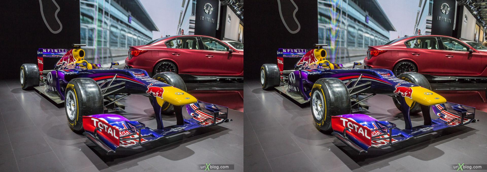 2014, Infiniti, Moscow International Automobile Salon, MIAS, Crocus Expo, Moscow, Russia, augest, 3D, stereo pair, cross-eyed, crossview, cross view stereo pair, stereoscopic
