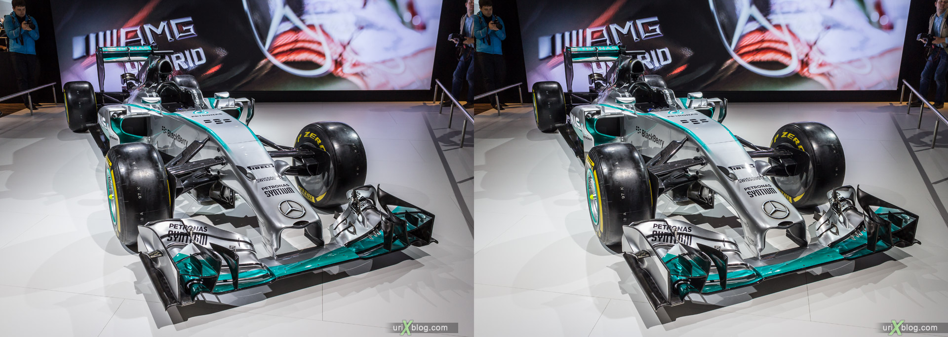 2014, Mercedes-Benz, Moscow International Automobile Salon, MIAS, Crocus Expo, Moscow, Russia, augest, 3D, stereo pair, cross-eyed, crossview, cross view stereo pair, stereoscopic