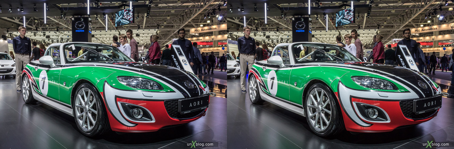 2014, Aori, Moscow International Automobile Salon, MIAS, Crocus Expo, Moscow, Russia, augest, 3D, stereo pair, cross-eyed, crossview, cross view stereo pair, stereoscopic