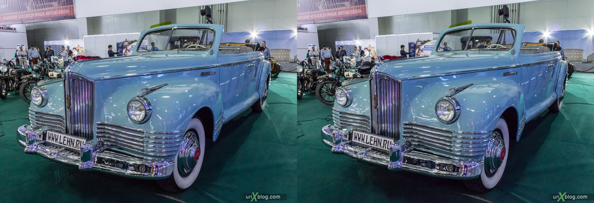 2014, ZIS, Moscow International Automobile Salon, MIAS, Crocus Expo, Moscow, Russia, augest, 3D, stereo pair, cross-eyed, crossview, cross view stereo pair, stereoscopic