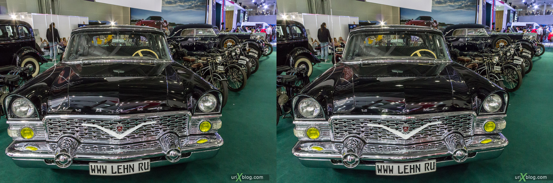 2014, Old Chajka, Moscow International Automobile Salon, MIAS, Crocus Expo, Moscow, Russia, augest, 3D, stereo pair, cross-eyed, crossview, cross view stereo pair, stereoscopic