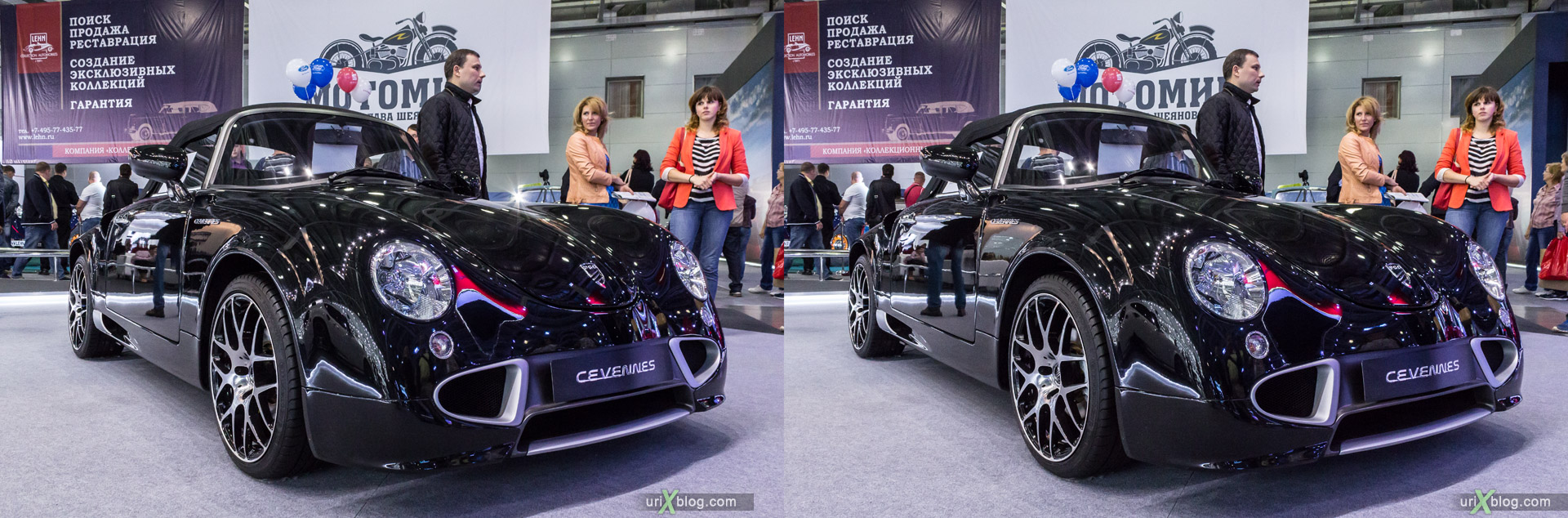 2014, PGO Cevennes, Moscow International Automobile Salon, MIAS, Crocus Expo, Moscow, Russia, augest, 3D, stereo pair, cross-eyed, crossview, cross view stereo pair, stereoscopic