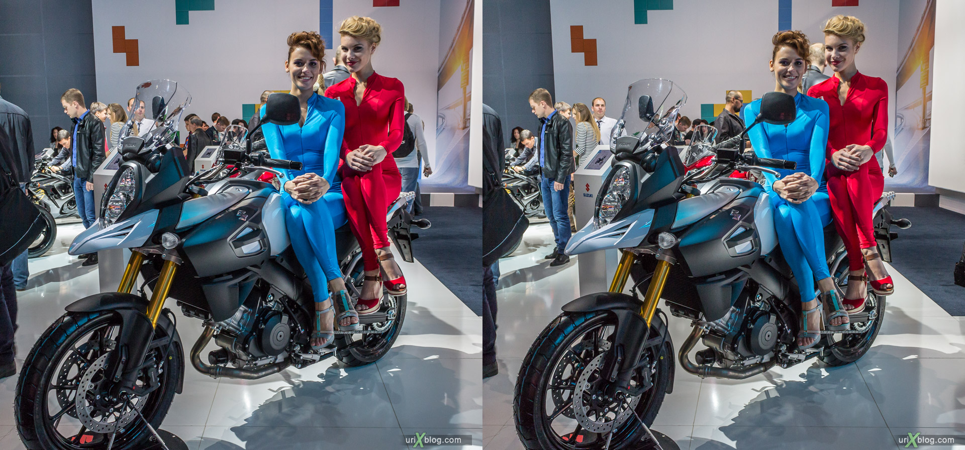 2014, Suzuki, Moscow International Automobile Salon, MIAS, Crocus Expo, Moscow, Russia, augest, 3D, stereo pair, cross-eyed, crossview, cross view stereo pair, stereoscopic