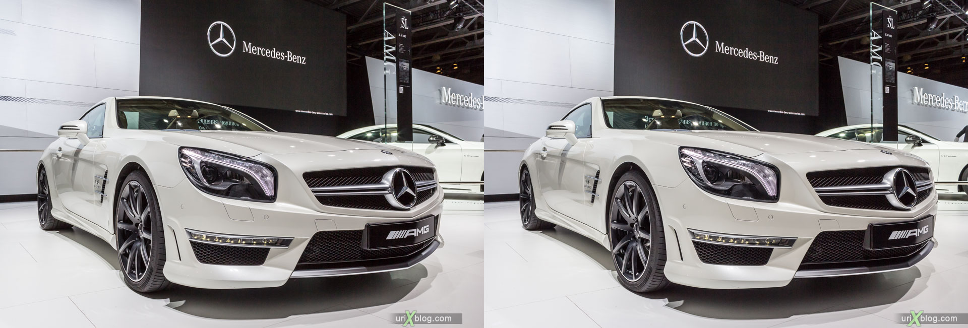 Mercedes-Benz AMG, Moscow International Automobile Salon 2014, MIAS 2014, girls, models, Crocus Expo, Moscow, Russia, 3D, stereo pair, cross-eyed, crossview, cross view stereo pair, stereoscopic, 2014
