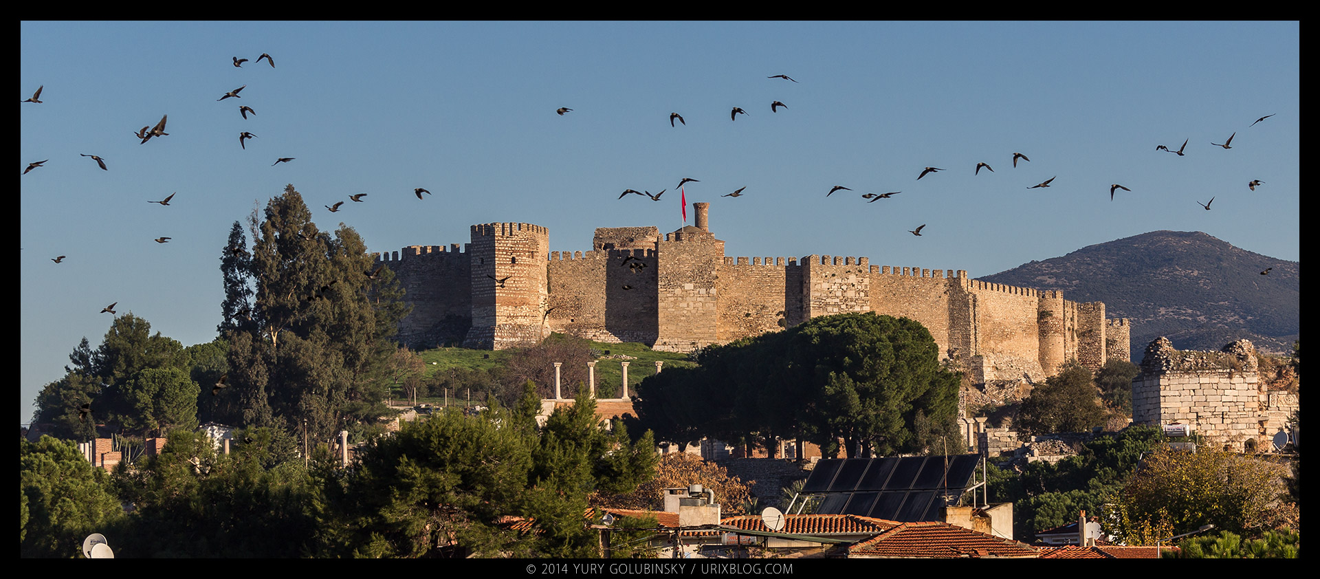 2014, Ayasuluk, fortress, castle, hill, Selçuk, Izmir, Turkey, ancient, medieval, ruins, excavations, panorama