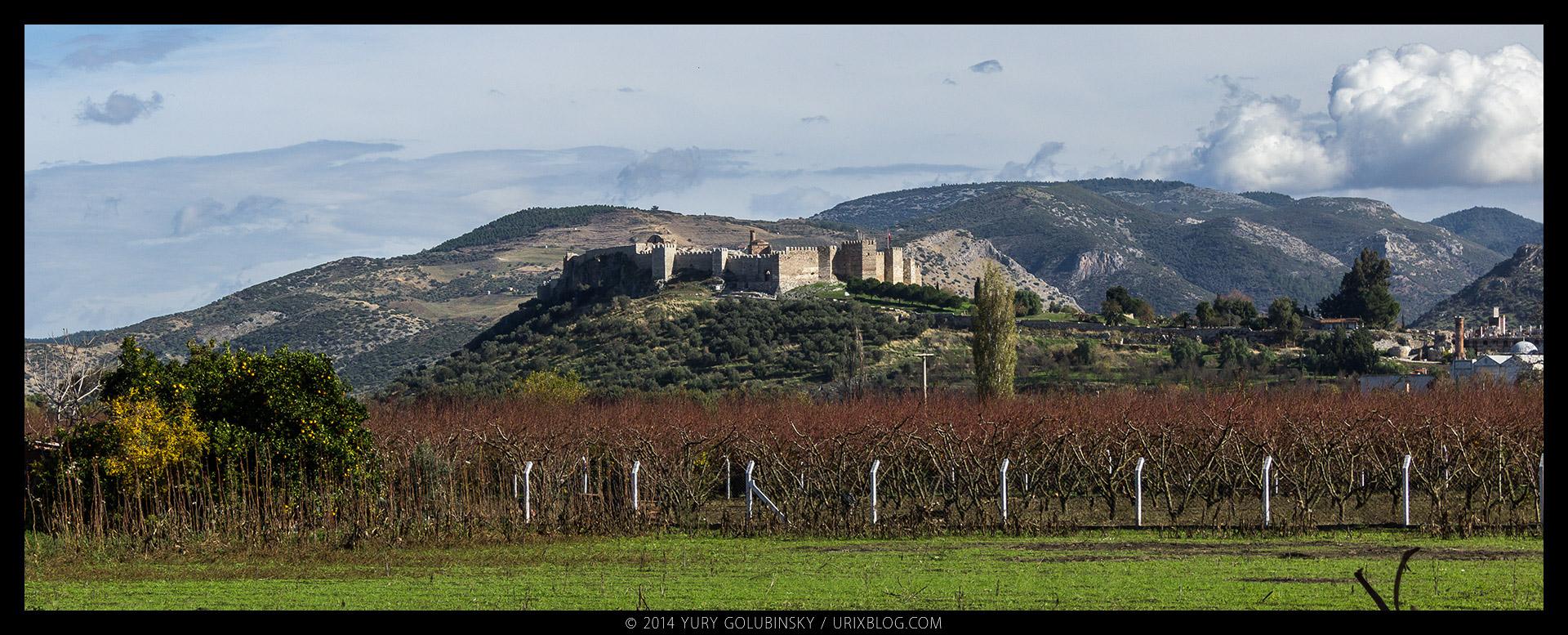 Аясулук, Айасулук, крепость, замок, холм, Сельчук, Измир, Турция, старинный, средневековый, руины, раскопки, панорама, 2014