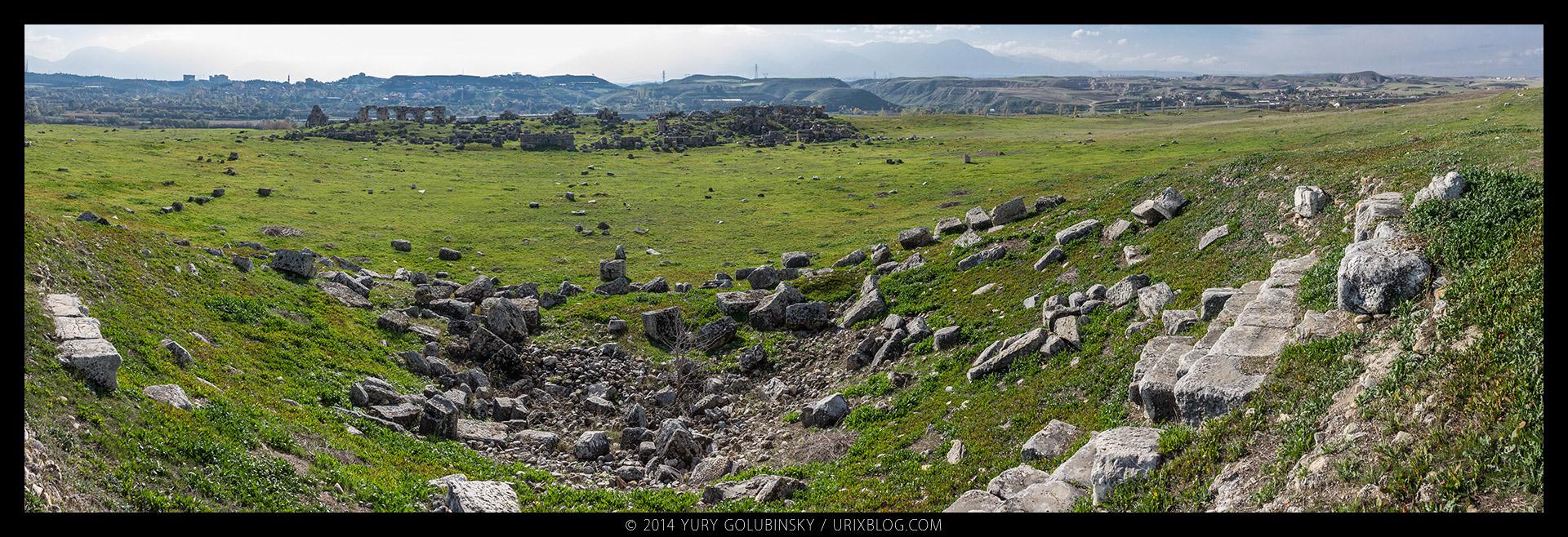 Лаодикея, античный город, восточная римская империя, греческий город, руины, раскопки, византийская империя, Дэнизли, Турция, Lycus река, панорама, 2014