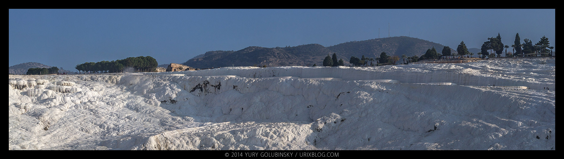 2014, Pamukkale, Travertine, Denizli, Turkey, panorama, nature, white, cotton castle