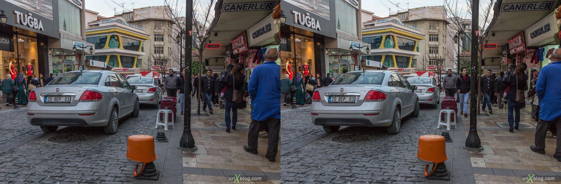 Дэнизли, Денизли, Турция, город, 3D, перекрёстная стереопара, стерео, стереопара, 2014