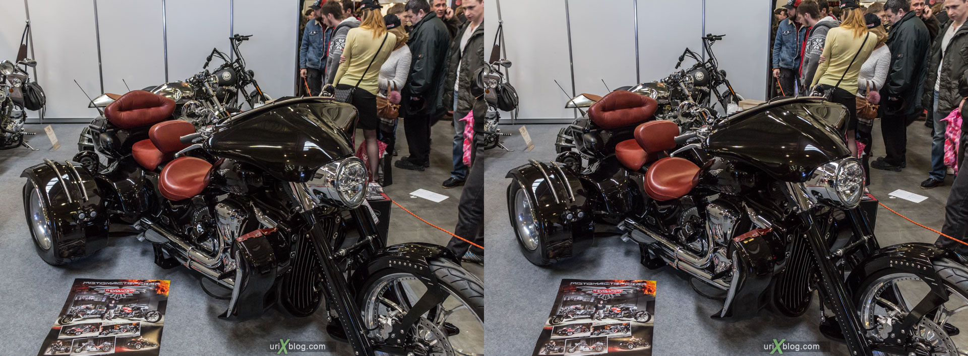Мото парк, мотоциклы, выставка, Москва, Россия, Крокус Экспо, 3D, перекрёстная стереопара, стерео, стереопара, 2015