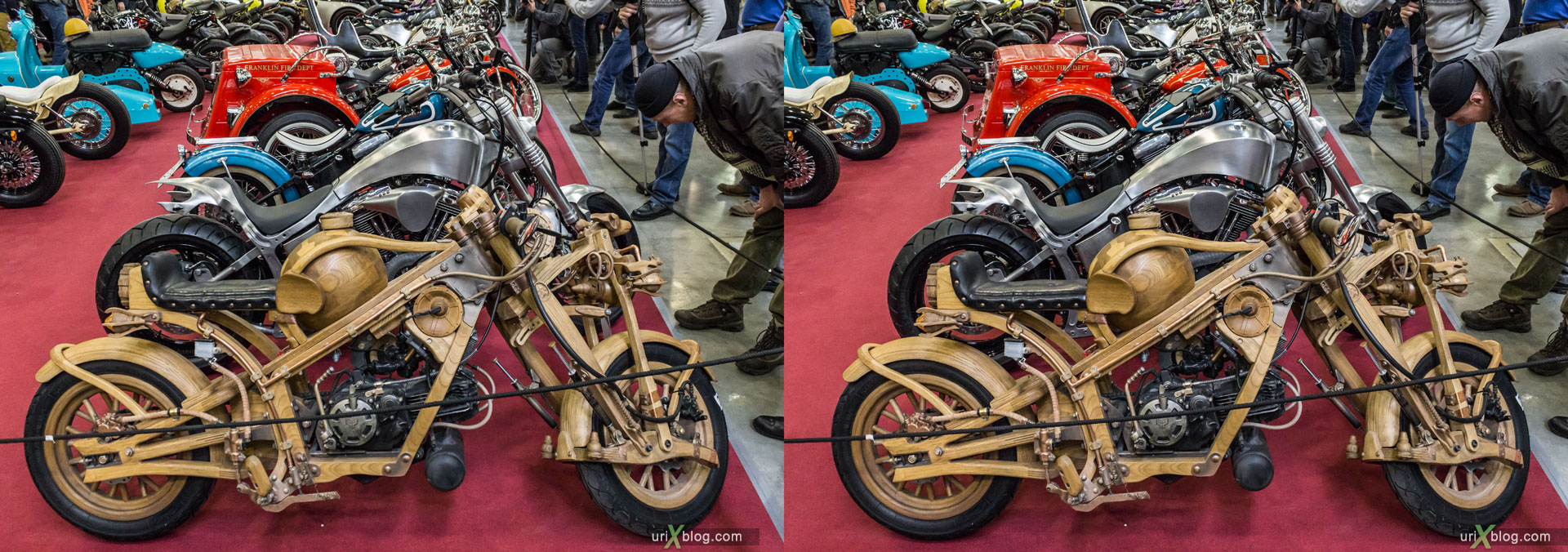 Moto park, exhibition, Crocus Expo, Moscow, Russia, 3D, stereo pair, cross-eyed, crossview, cross view stereo pair, stereoscopic, 2015