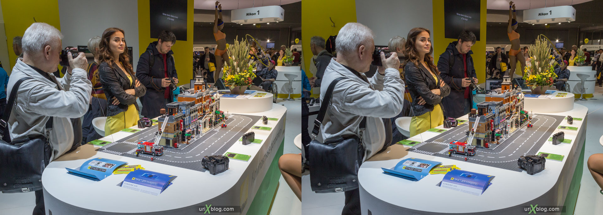 модель, девушка, Фотофорум, Крокус Экспо, выставка, Москва, Россия, 3D, перекрёстная стереопара, стерео, стереопара, 2015