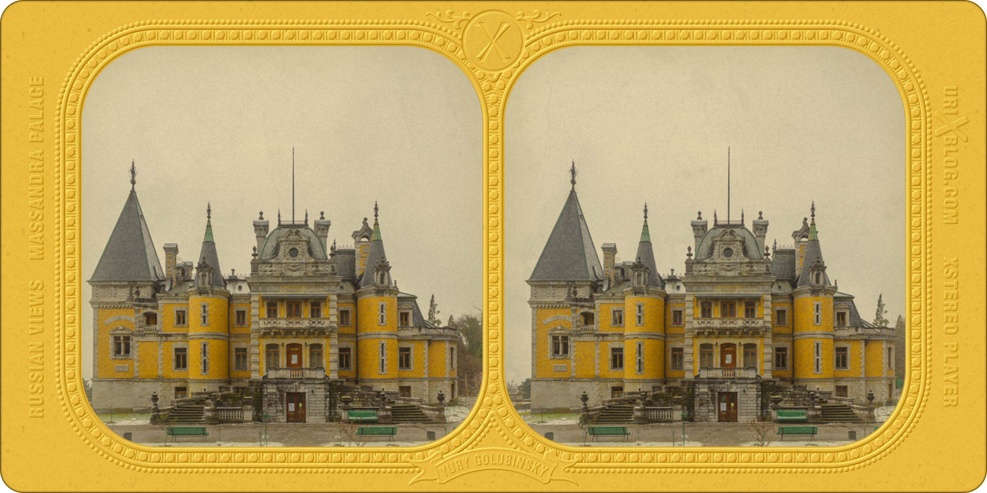 3d Stereoscopic Photos From All Over The World Urixblog Com Massandra Palace In Crimea French Tissue Stylized Stereocard